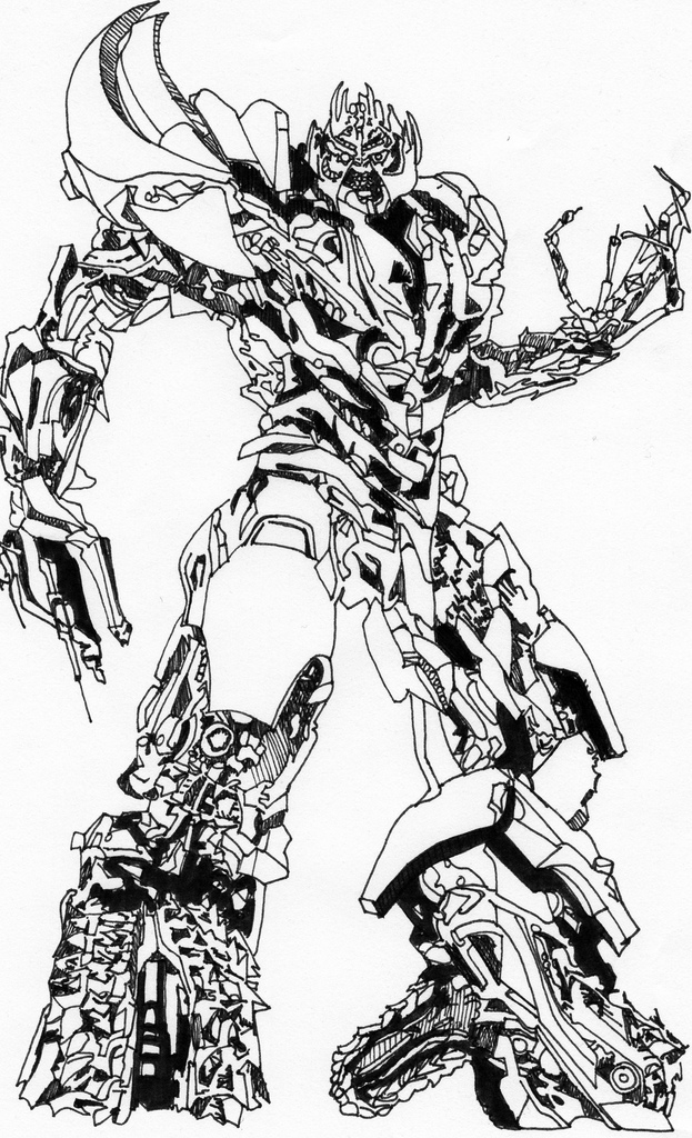 623x1024 Megatron Drawing This Was Done As A Joke For A Mate More