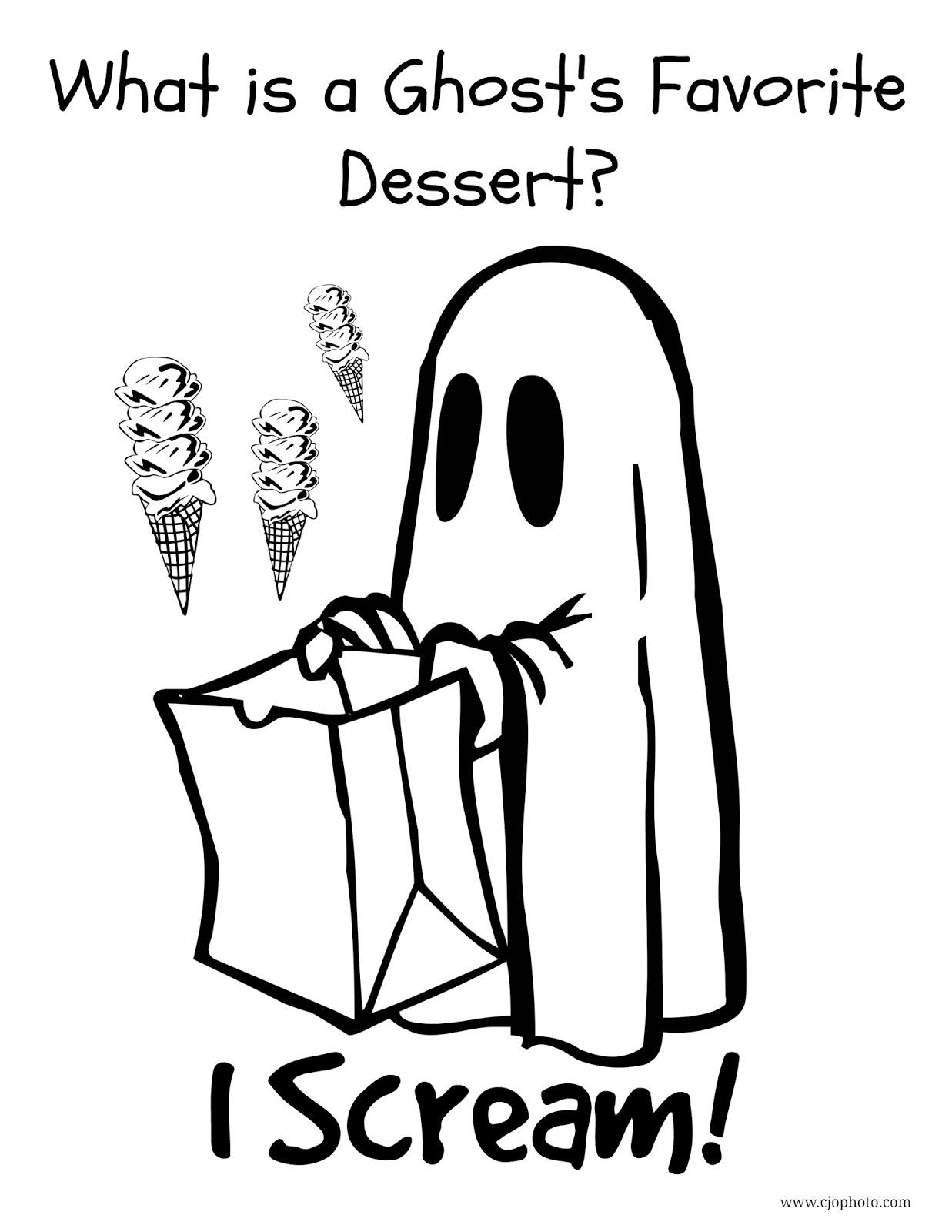 1237x1600 Cjo Photo Halloween Joke Coloring Page Ghost Joke