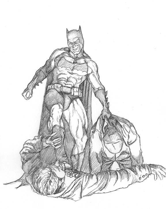 576x724 Batman Vs Joker By Meador