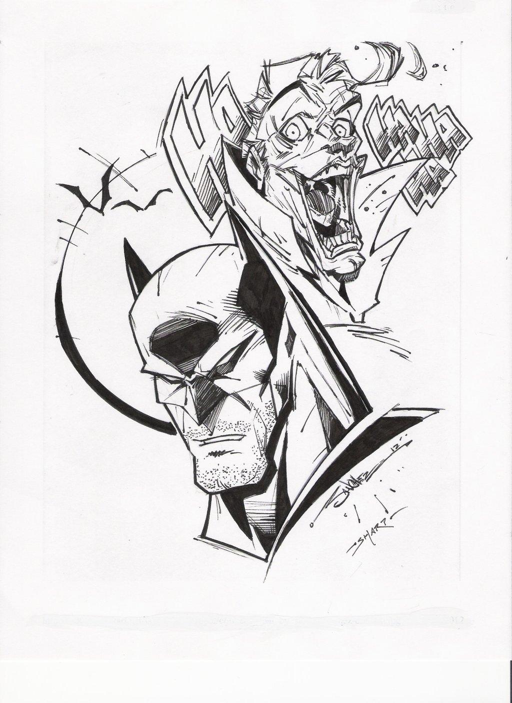 1024x1408 Steven Sanchez's Batman Joker Inks By Fanboy67