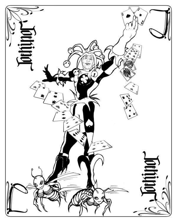 600x750 Joeking Joker Card Bw By Cdmalcolm