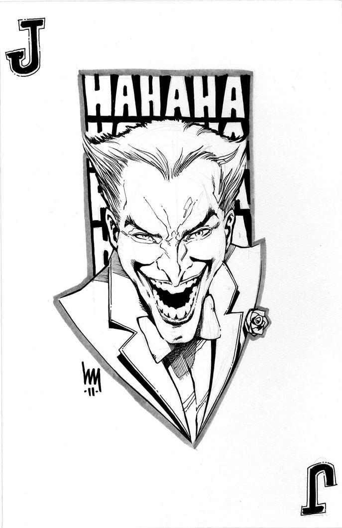687x1060 Joker Sketch By Wrathofkhan