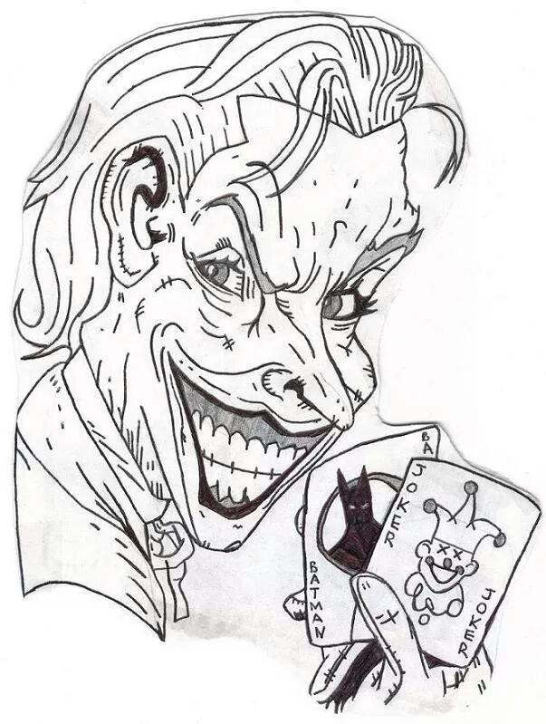 603x799 The Joker (Playing Cards) Sketch By Urfavoritefatguy