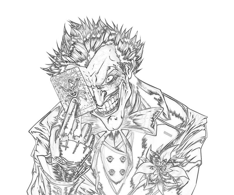 800x667 The Joker Coloring Pages