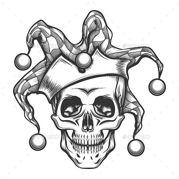 590x590 The Skull In Joker Cap By Olena1983 Graphicriver