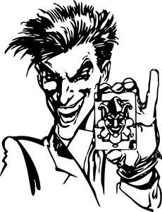 230x300 Batman Joker Card Dc Comics Decal Wall Car Window Laptop Vinyl