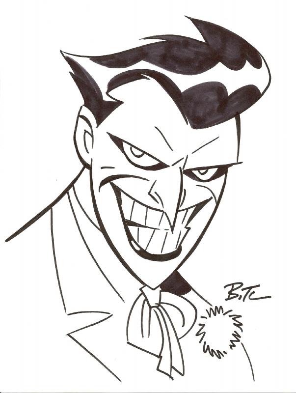603x800 The Joker Sketch By Bruce Timm Cartooncomic Stuff I Love