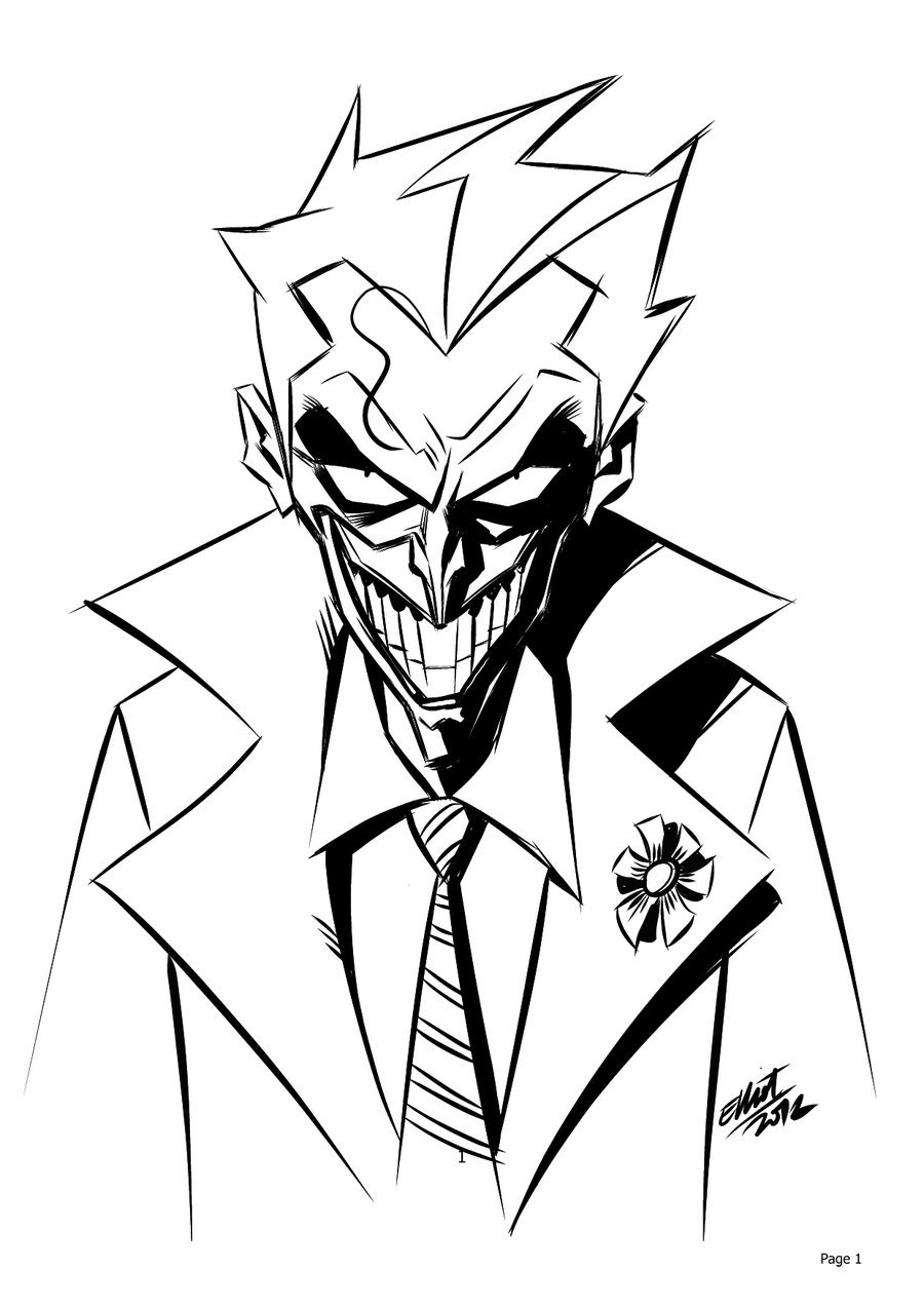 900x1273 Joker Cartoon Drawing How To Draw Joker Dc Comics
