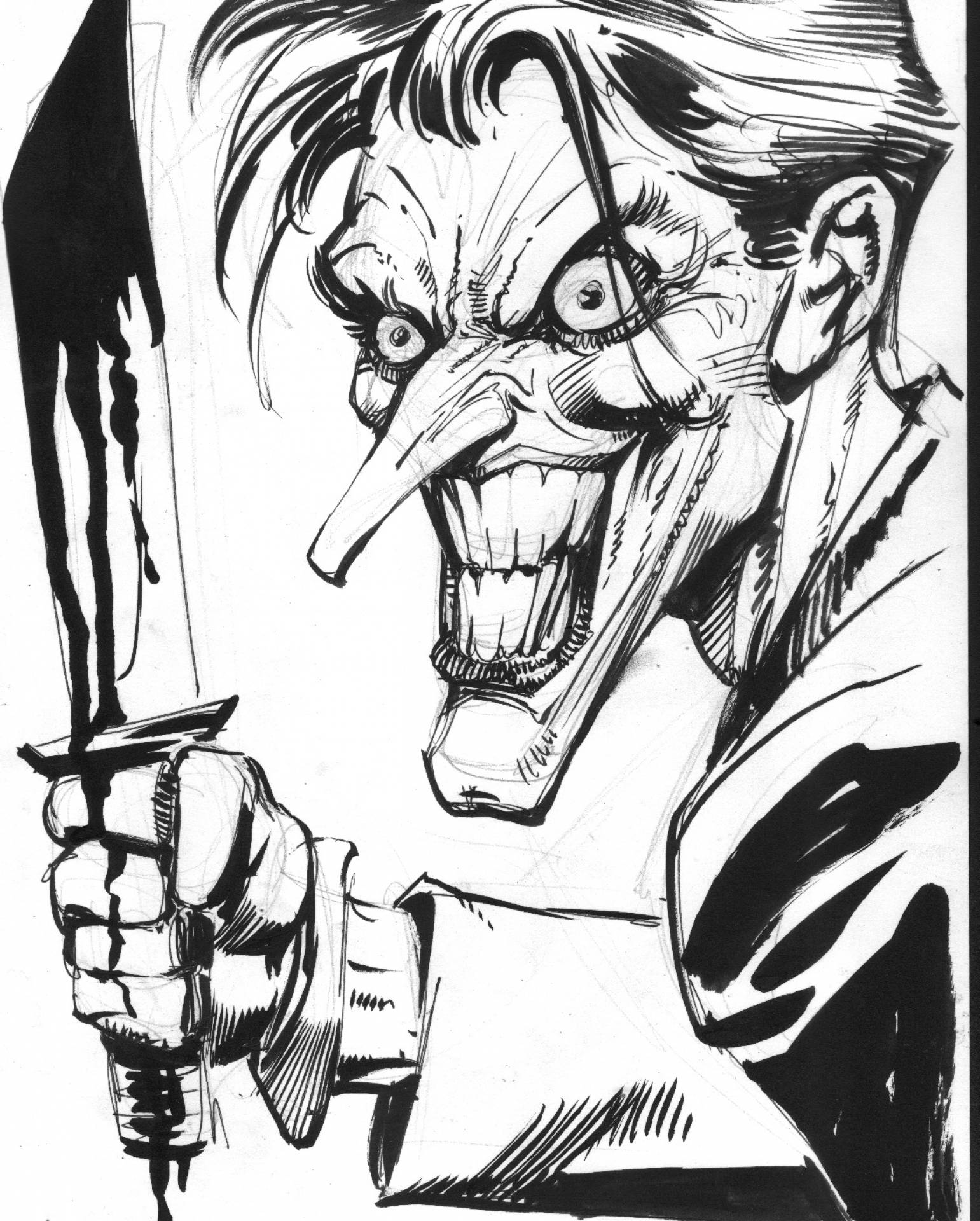 1541x1920 Original Joker Commission By Joe Rubinstein