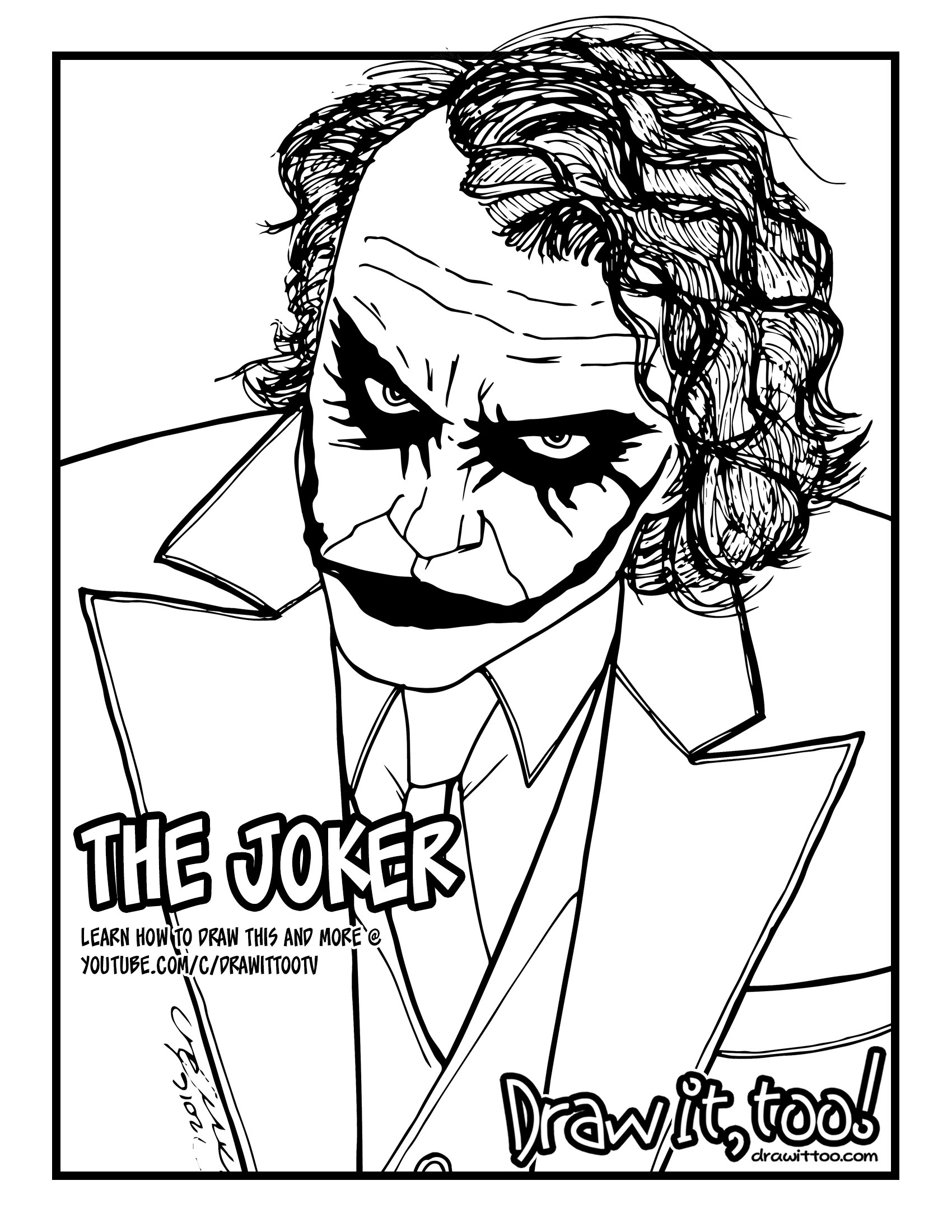 1700x2200 The Joker (The Dark Knight)