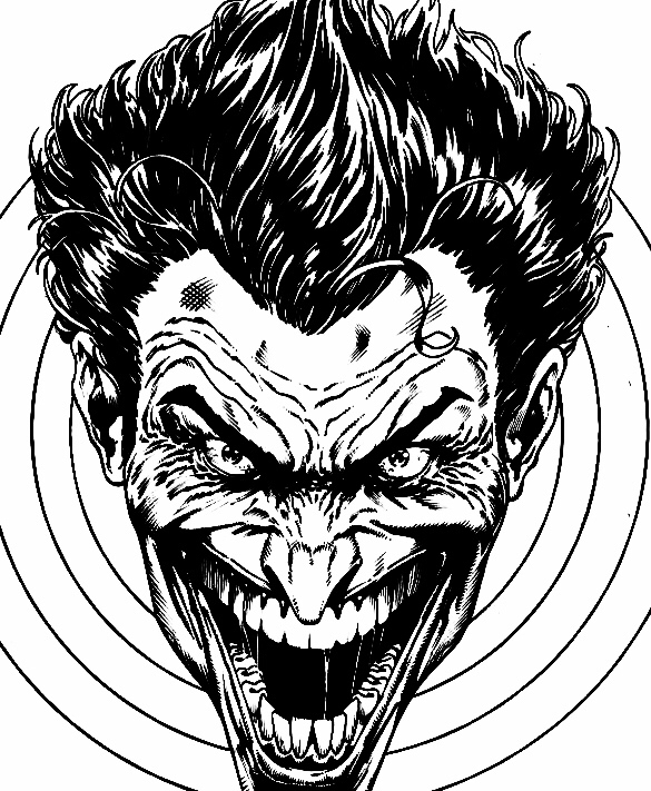 585x711 Black And White Joker By Jason Fabok Joker Joker