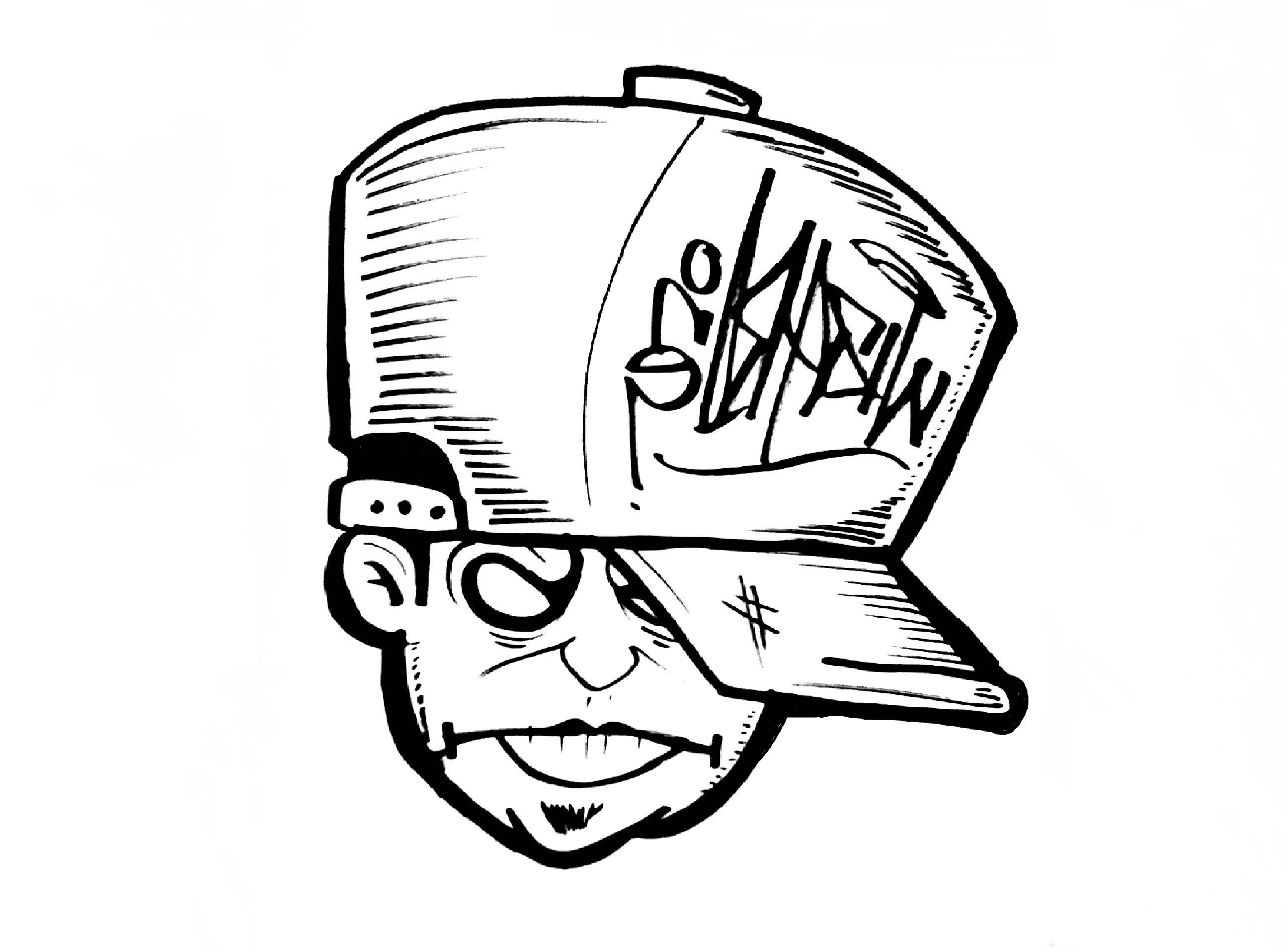 2592x1912 Graffiti Character Joker Sketch How To Draw Face (Graffiti