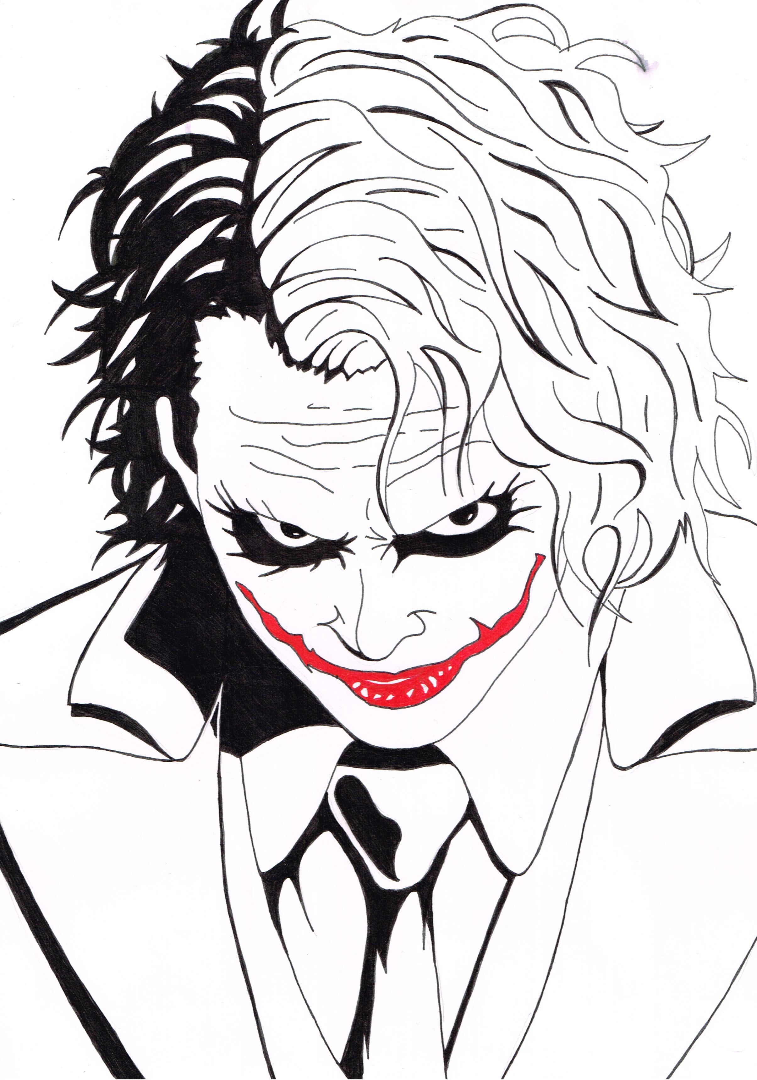 2409x3437 Heath Ledger As Joker By Mrandateika
