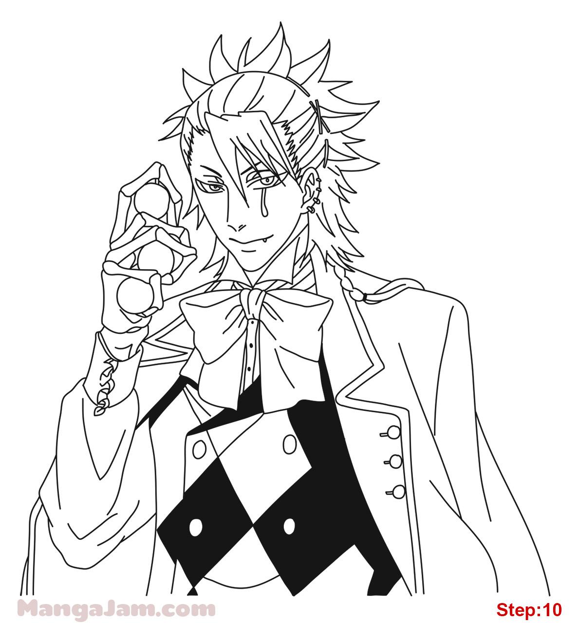 1187x1280 How To Draw Joker From Kuroshitsuji