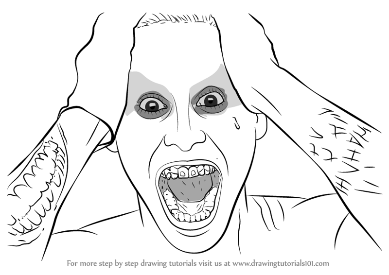 800x566 Learn How To Draw Jared Leto As The Joker From Suicide Squad