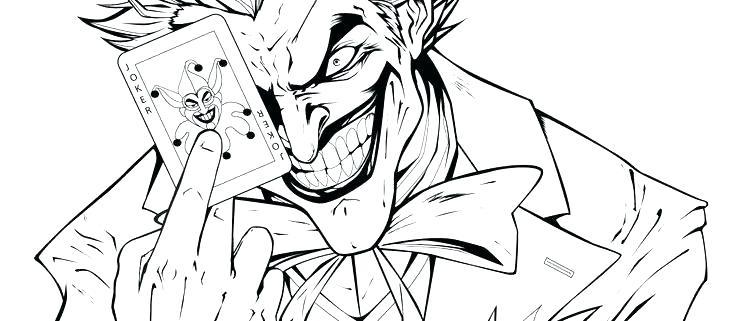 736x321 Ideal Batman And Joker Coloring Pages Print Cartoon Printable