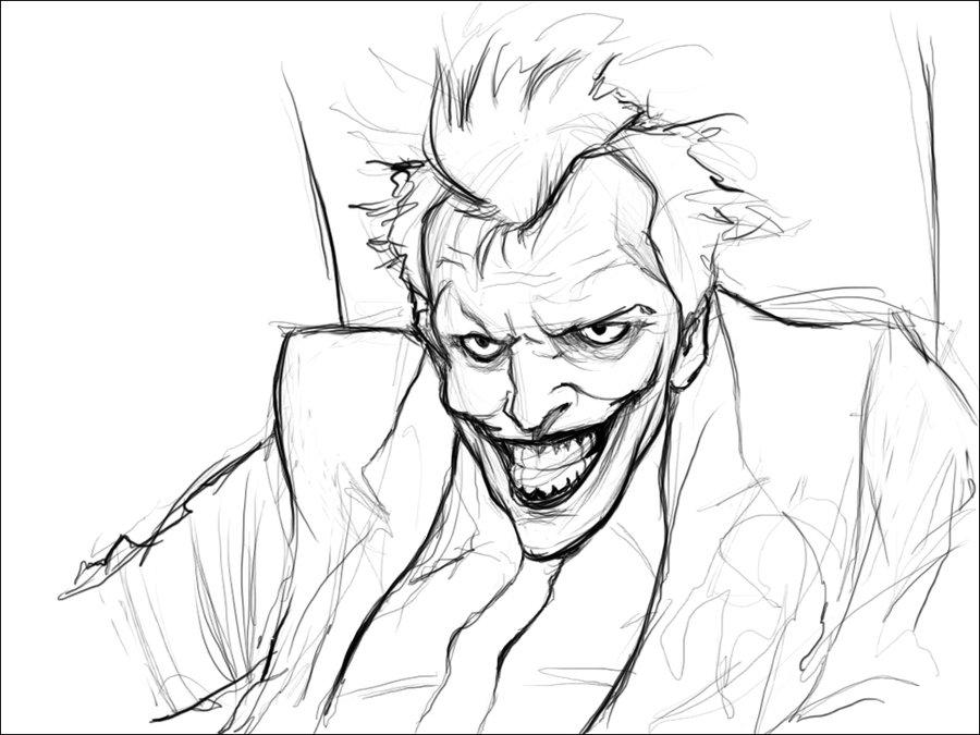900x675 Joker Sketch By Jorgedaniel
