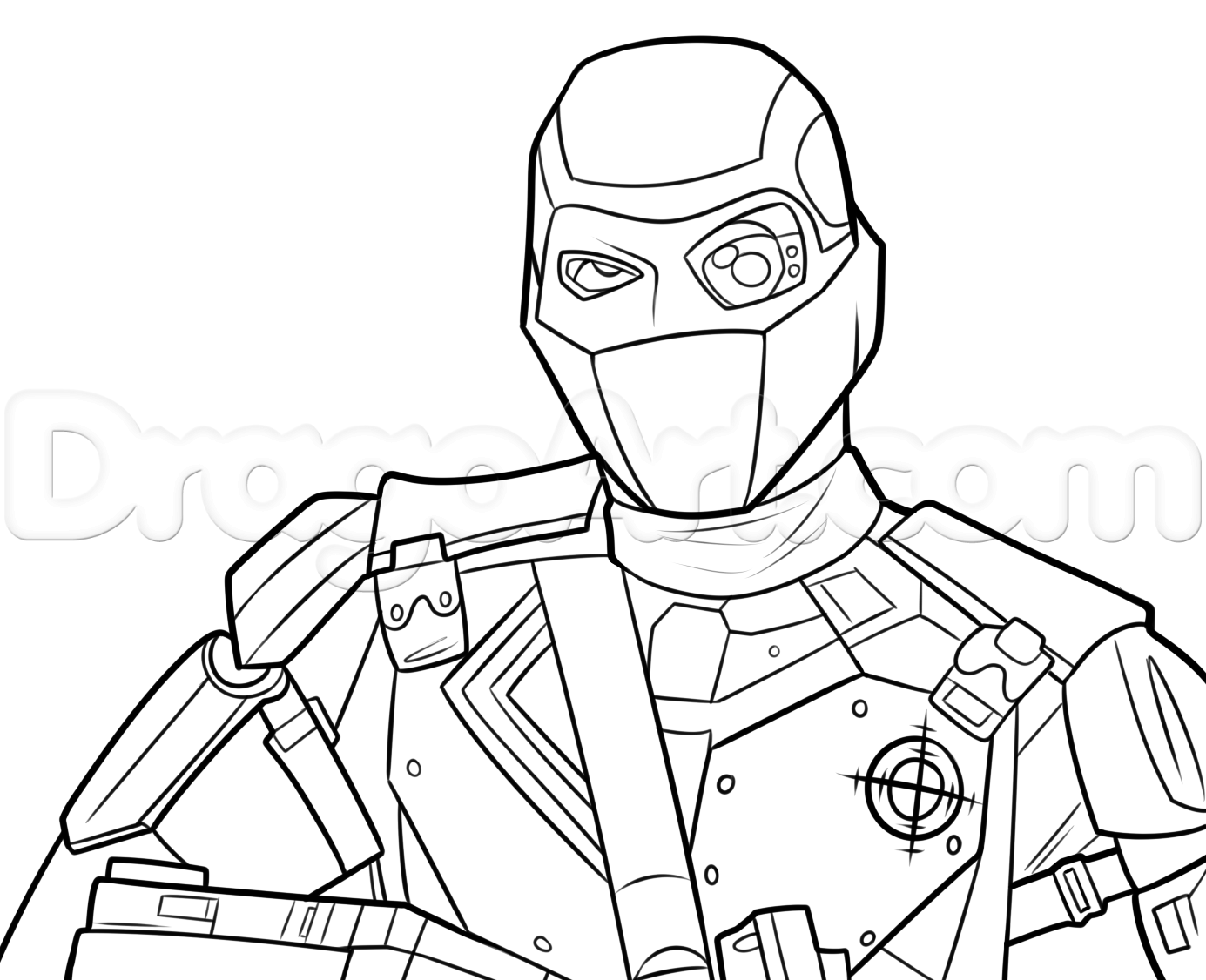 1385x1126 Joker Suicide Squad Coloring Sheets Draw Deadshot From Step By