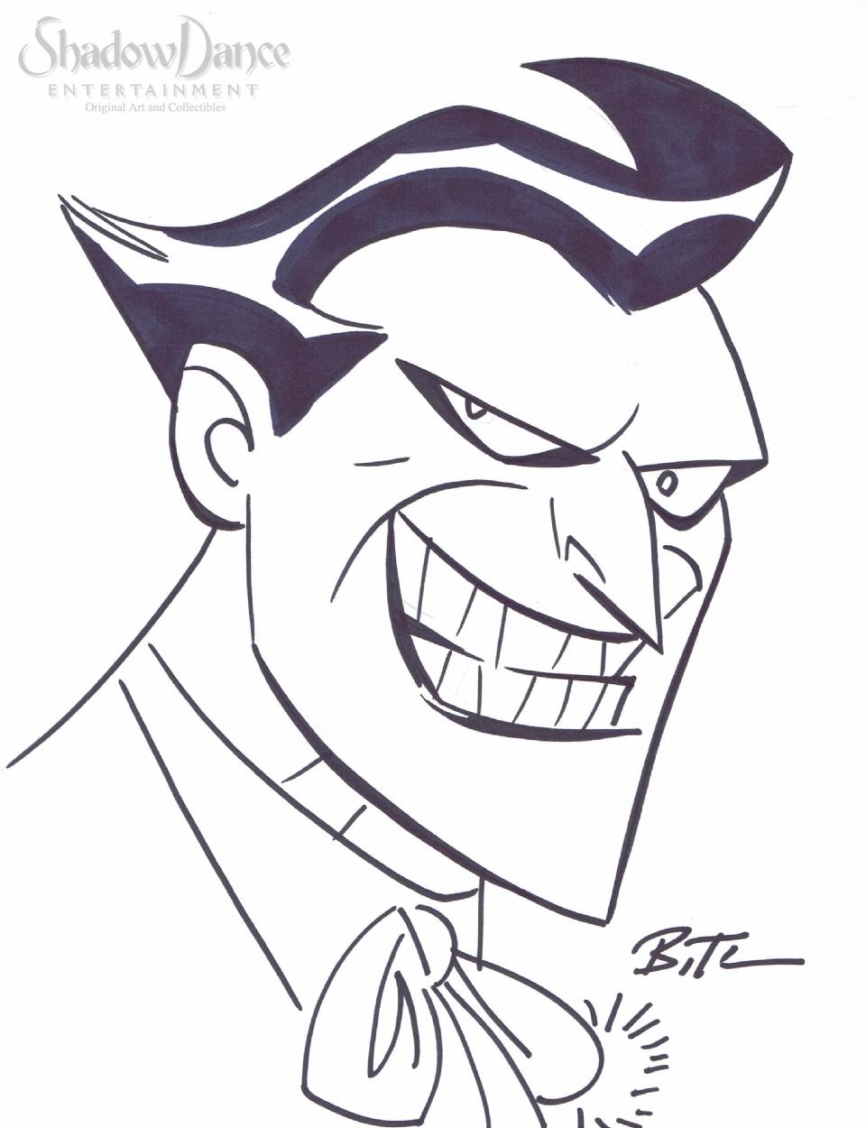 960x1250 Joker Sketch By Bruce Timm