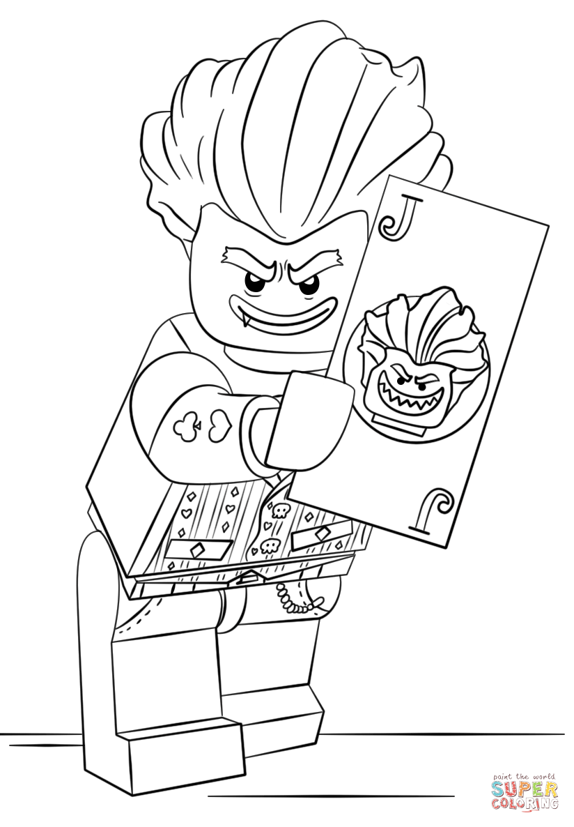 824x1186 Lego Arkham Asylum Joker Coloring Page Free Printable Coloring Pages