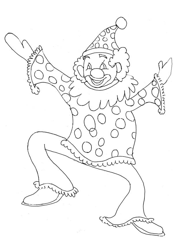 600x824 The Funny Man Joker Coloring Page