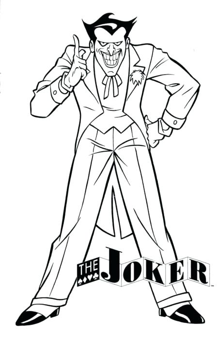 448x700 Cartoon Joker Coloring Pages To Print