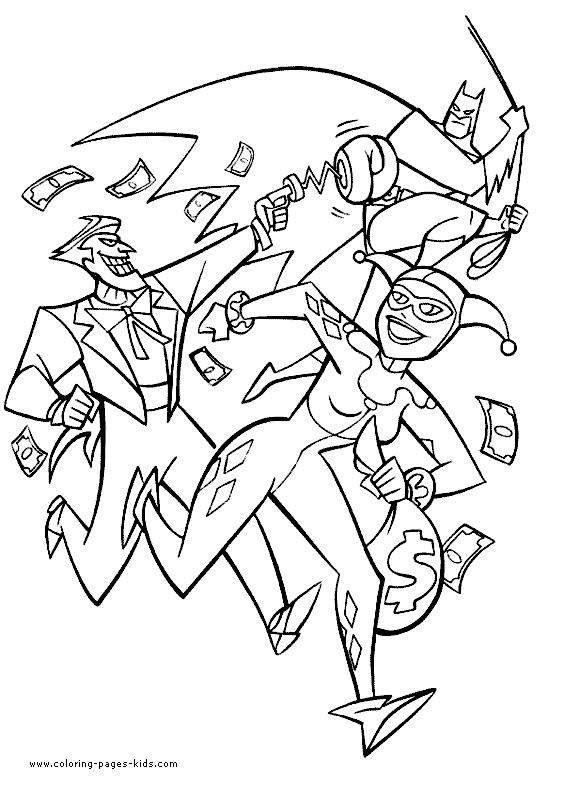 564x785 Joker And Harley Quinn Coloring Pages Erf Coloring