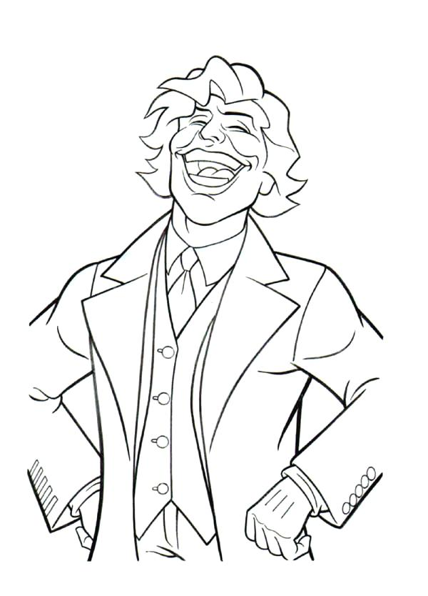 600x834 Joker Pictures To Color Scary Clown Coloring Pages For Kids
