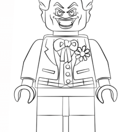 268x268 Lego Joker Coloring Pages