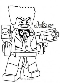 242x338 Printable Lego Batman Joker Coloring Pages For Boy