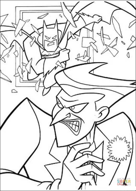 567x794 Batman And Joker Coloring Page Free Printable Coloring Pages