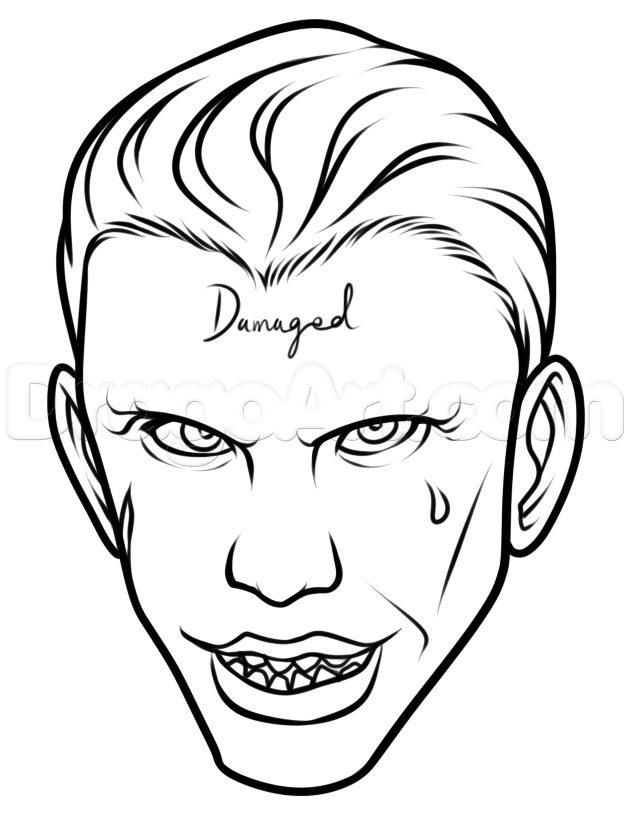 629x827 How To Draw Suicide Squad Joker Easy, Step By Step, Dc Comics
