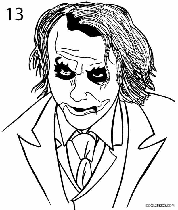 619x730 How To Draw The Joker (Step By Step Pictures) Cool2bkids