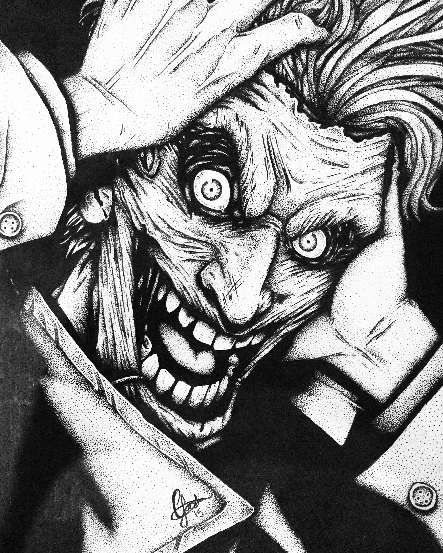 2448x3060 I Finally Finished My Joker Drawing!
