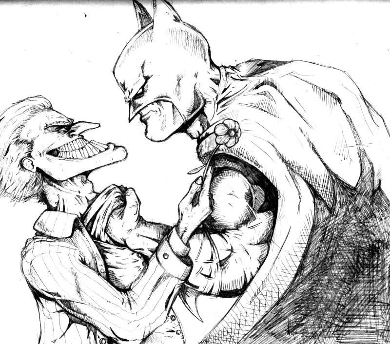 800x706 Joker And Batman Pencils By Petex