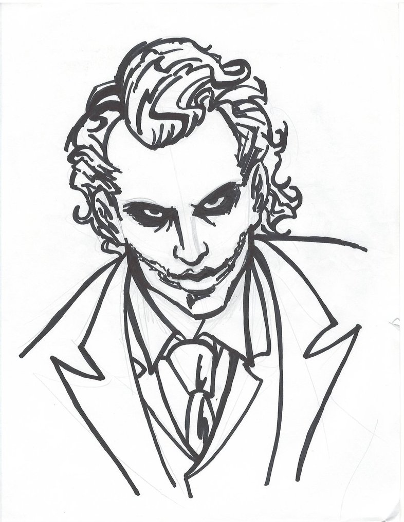 786x1017 Photos Easy Drawing Of The Joker,
