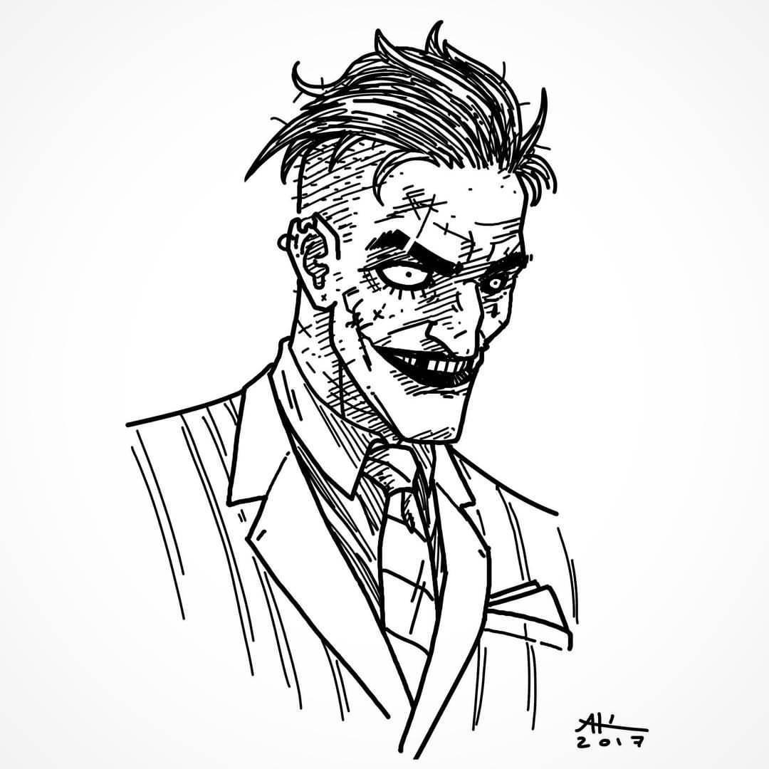 1080x1080 Quick Joker Sketch