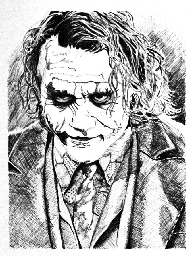 683x900 The Joker Drawing By Brian Sanford