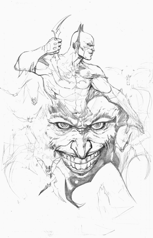 600x934 Batman And Joker Wip By Erollseeinda