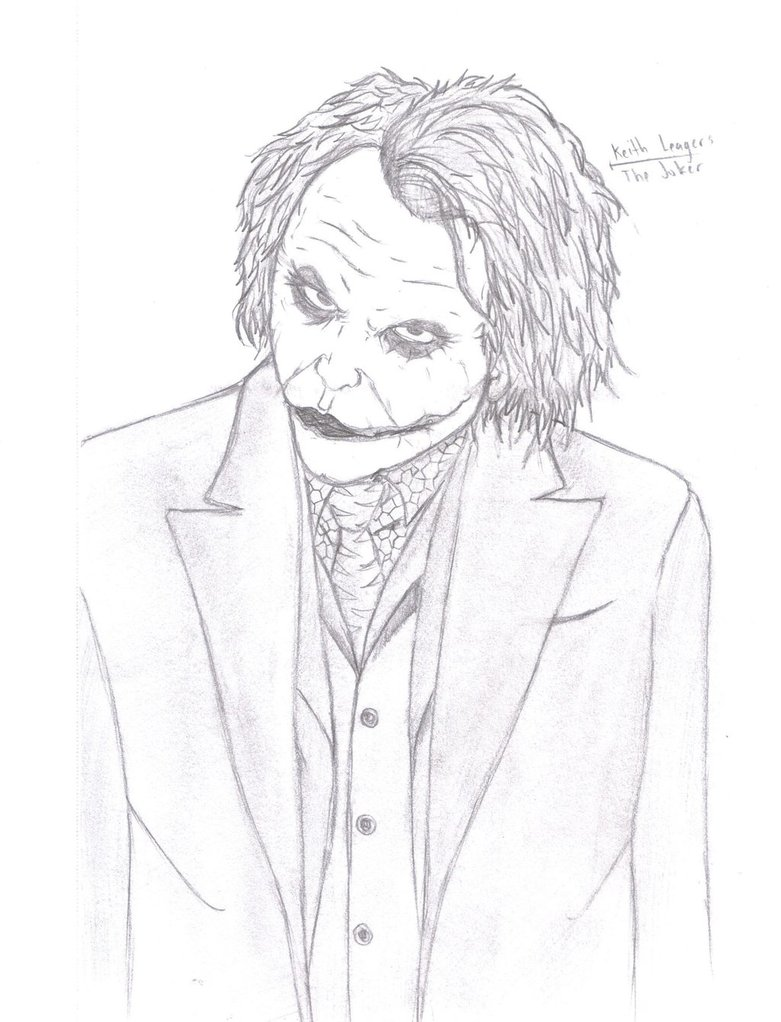 joker heath ledger drawing at getdrawings com free for personal