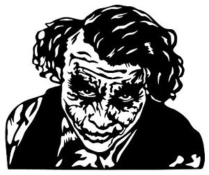 300x252 Joker Batman Dark Knight Heath Ledger Vinyl Decal Sticker Bumper