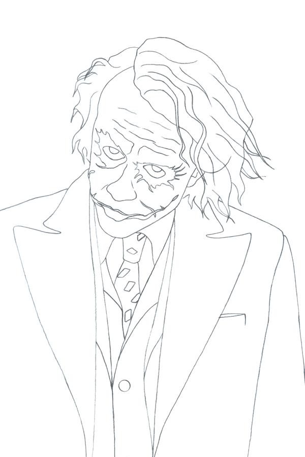 Joker Heath Ledger Drawing at GetDrawings.com | Free for ...  Joker Heath Led...