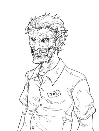 324x426 Joker's Garage (Line Art) By B Dangerous