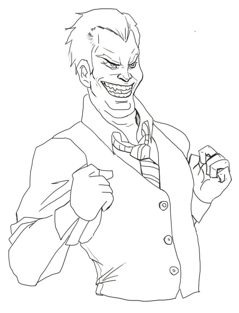 782x1022 Joker Line Work Wip By Dirkpower