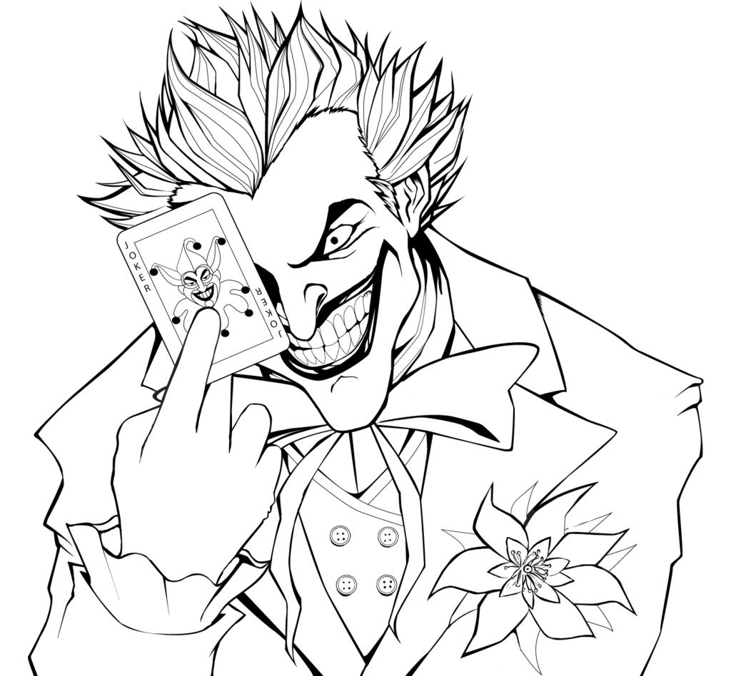 Joker Line Drawing At Getdrawings Free Download
