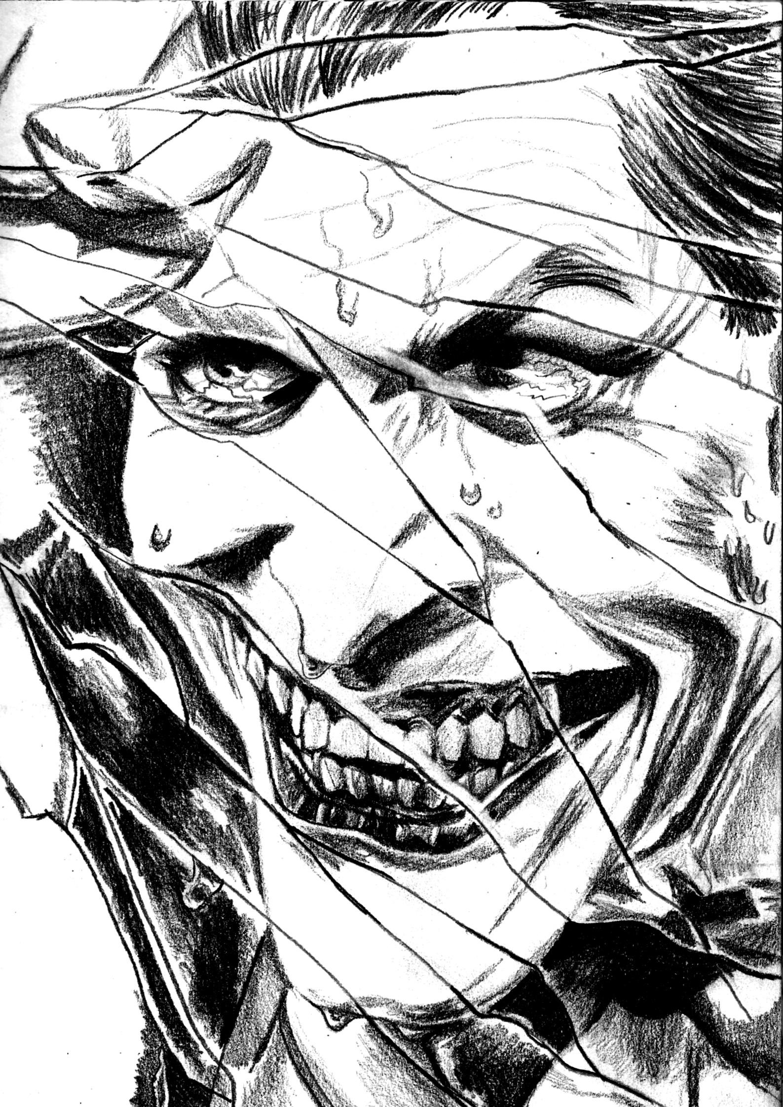1587x2243 Cracked' The Joker Fan Art Art + Illustration + Design