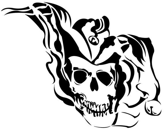 Joker Skull Drawing