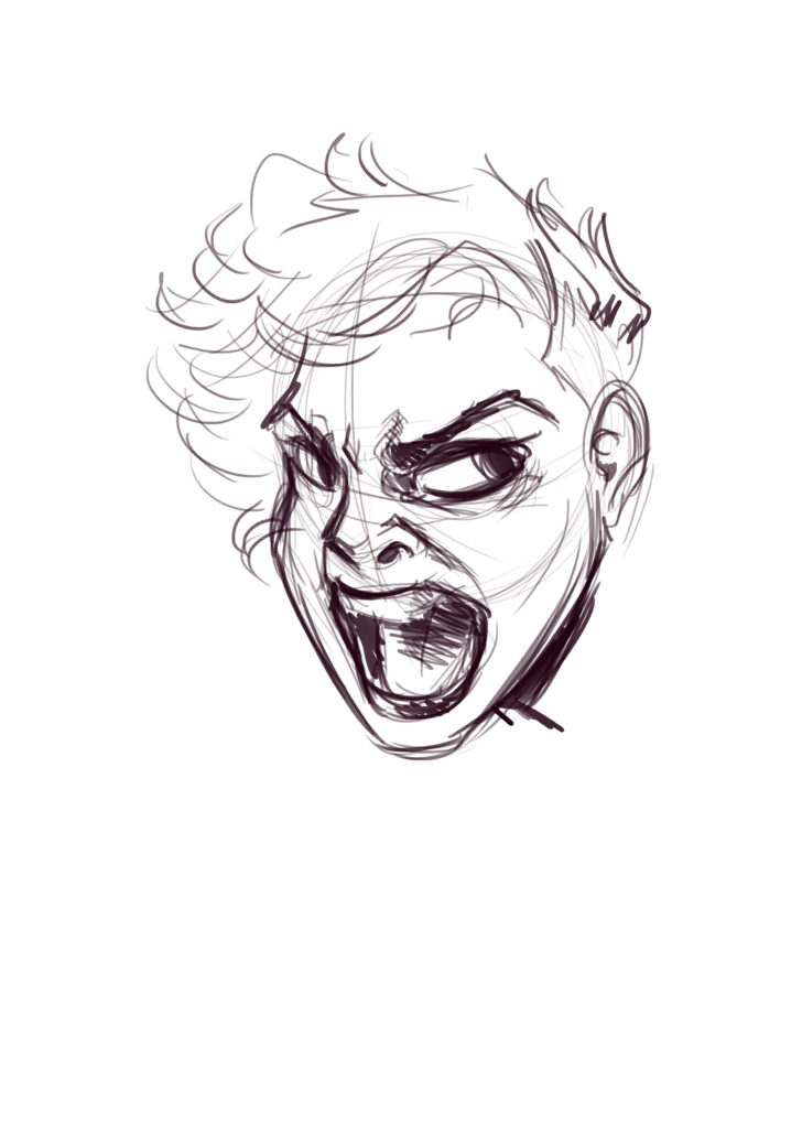 728x1030 How To Draw Screaming Faces A Tutorial! Javi Can Draw
