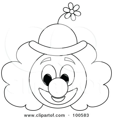 450x470 Clown Faces To Color Clown Coloring Pages Clown Playing
