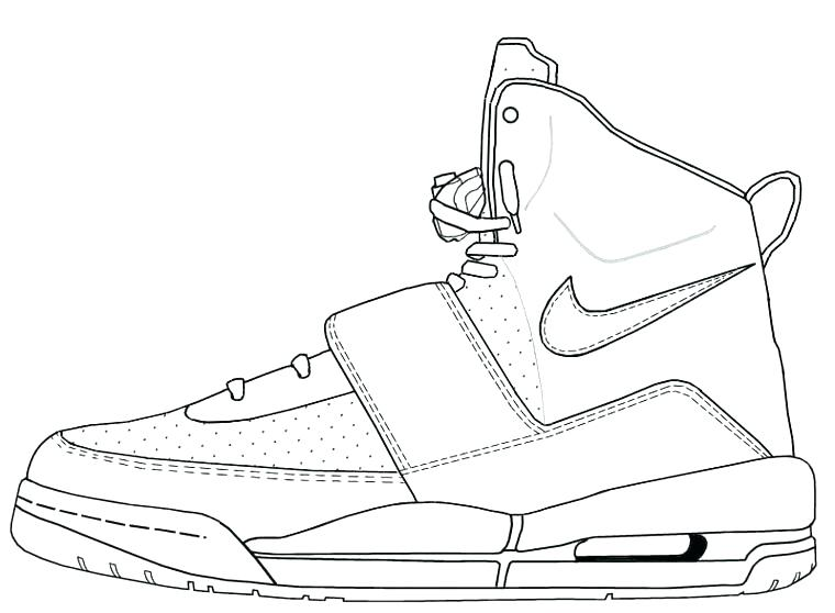 760x558 Michael Jordan Coloring Pages For Drawn Sneakers Coloring Page 2